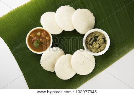 south indian breakfast, idli or idly sambar