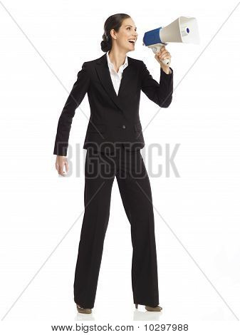 Businesswoman With Megaphone No 2