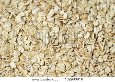Close up of rolled oats