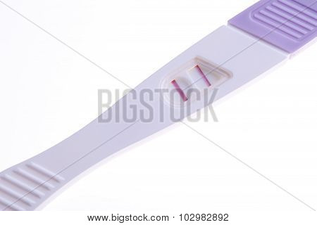 the pregnancy tests positive result two lines isolated on white background poster