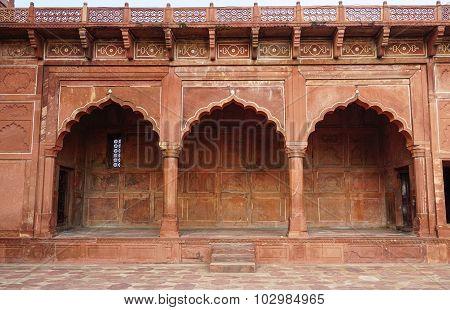 Detail Of Red Sandstone Doorway