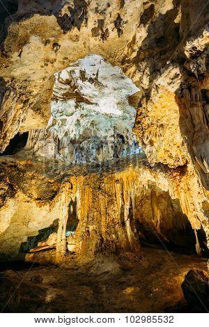 Cuevas de Nerja  - Caves of Nerja in Spain. Stalactites and stal