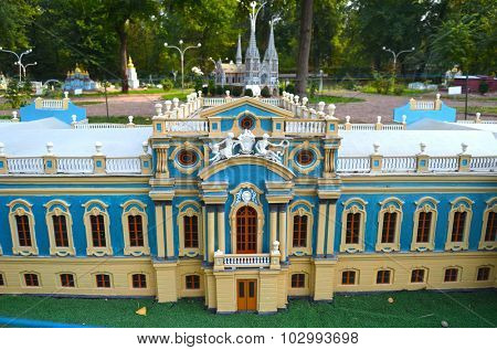 KIEV, UKRAINE - September 23, 2015: Entertaiment Park Ukraine in Miniature (Small scale Ukraine).