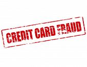 Rubber stamp with text credit card fraud inside vector illustration poster
