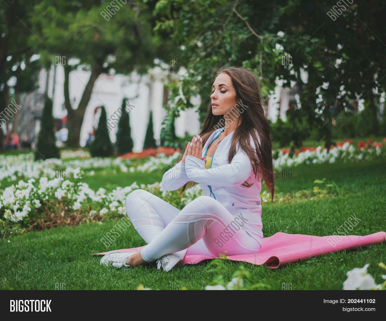 Girl Doing Yoga Pose Image Photo Free Trial Bigstock