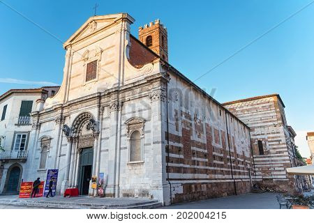 LUCCA, ITALY - MAY 23, 2017: The church of San Giovanni in Lucca