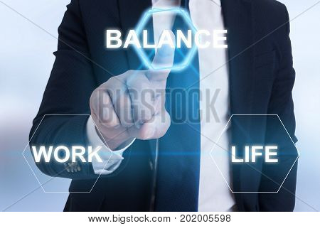 Entrepreneur Hand Pointing The Balance Icon