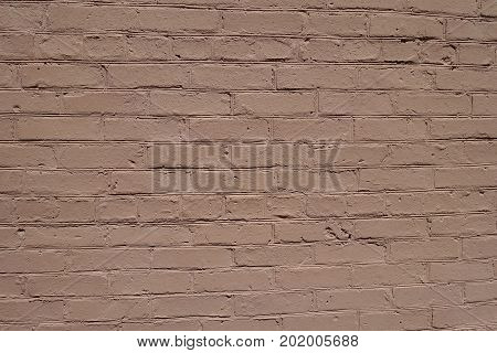Light Brown Simple Painted Brick Wall Surface