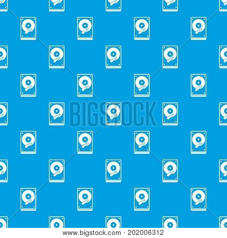 HDD pattern repeat seamless in blue color for any design. Vector geometric illustration
