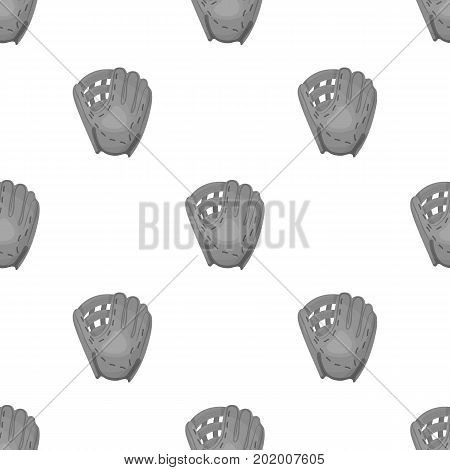 Glove trap. Baseball single icon in monochrome style vector symbol stock illustration .
