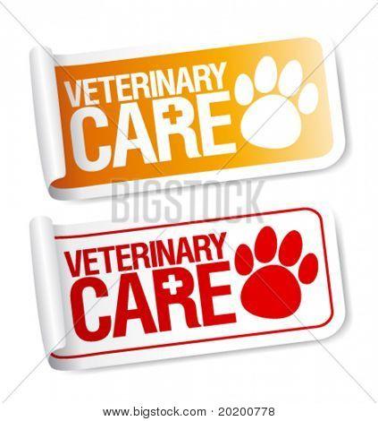 Veterinary care stickers set.