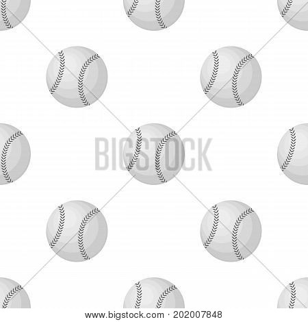 Ball for baseball. Baseball single icon in monochrome style vector symbol stock illustration .