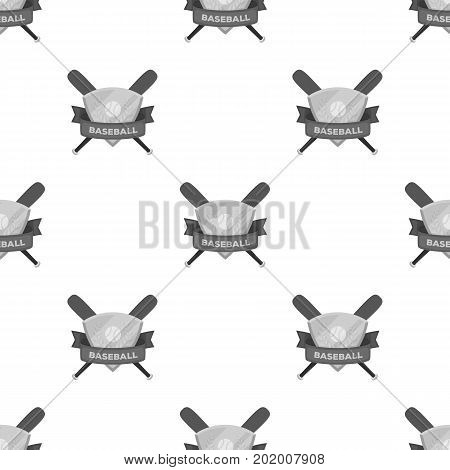 Emblem. Baseball single icon in monochrome style vector symbol stock illustration .