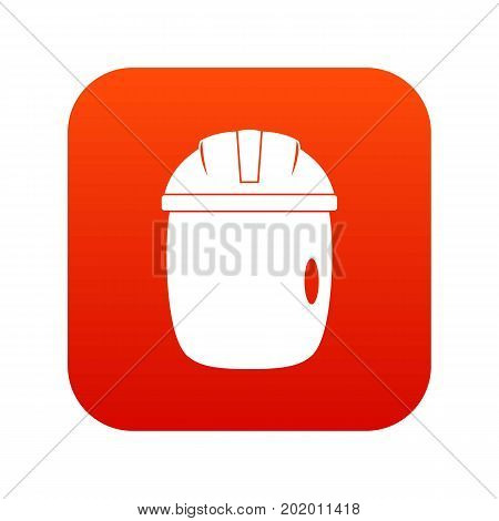 Glass welding mask icon digital red for any design isolated on white vector illustration