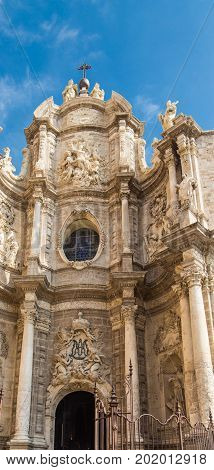 An Ornate Facade of Valencia Spain Church