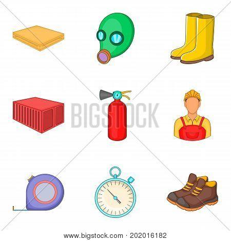 Upkeep icons set. Cartoon set of 9 upkeep vector icons for web isolated on white background