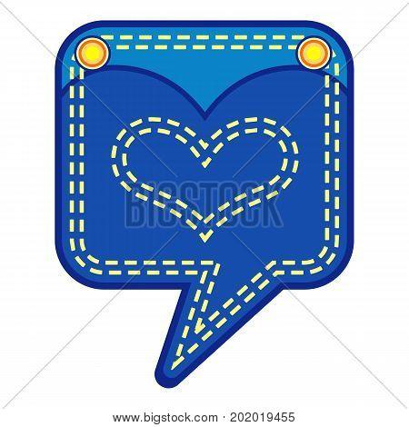 Emblem pocket icon. Flat illustration of emblem pocket vector icon for web
