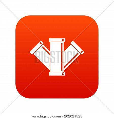 Sewerage icon digital red for any design isolated on white vector illustration