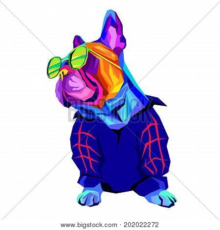 French Bulldog. Vector illustration for a poster. Cute puppy. Pedigree dog.