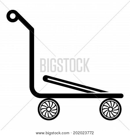 Airport trolley icon. Simple illustration of airport trolley vector icon for web