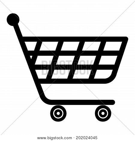 Product trolley icon. Simple illustration of product trolley vector icon for web