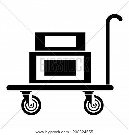 Hotel trolley icon. Simple illustration of hotel trolley vector icon for web