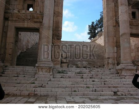 Amman and environment, Jordan. The antiquities. Hellenistic ruins of Qasr al-Abd