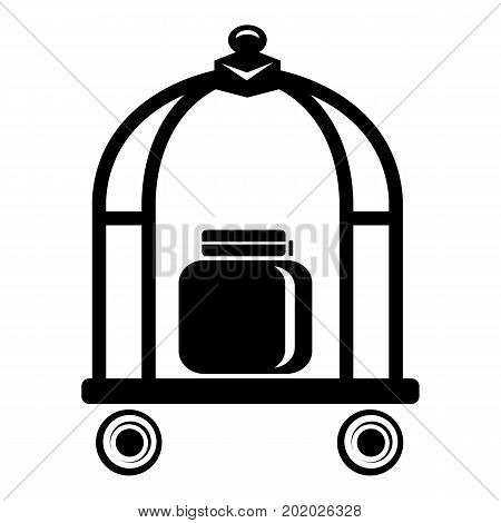 Baggage trolley icon. Simple illustration of baggage trolley vector icon for web
