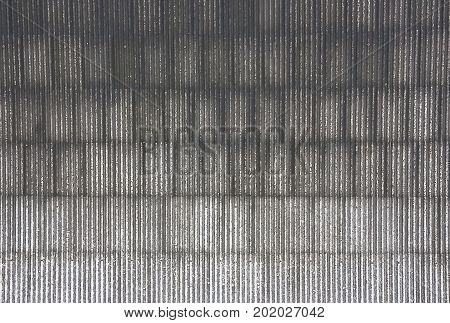 Top view of Old corrugated roof tiles show Texture and Background.