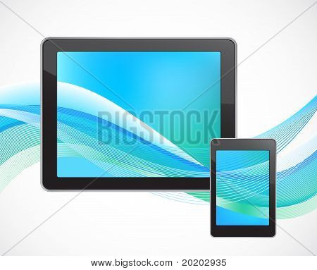 Tablet computer with smart phone