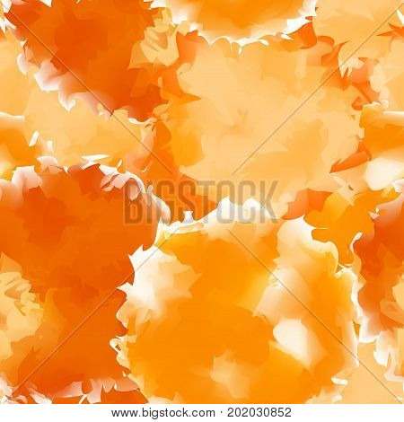 Orange Seamless Watercolor Texture Background. Amazing Abstract Orange Seamless Watercolor Texture P