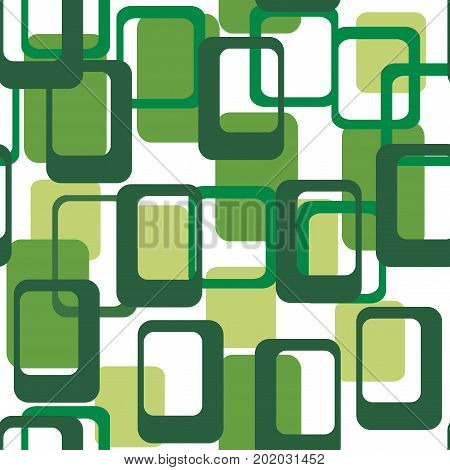 Abstract flat geometric pattern green. Repeating pattern for printing on men's and women's clothing, paper, upholstery, fabric, textile,covers. Seamless vector illustration