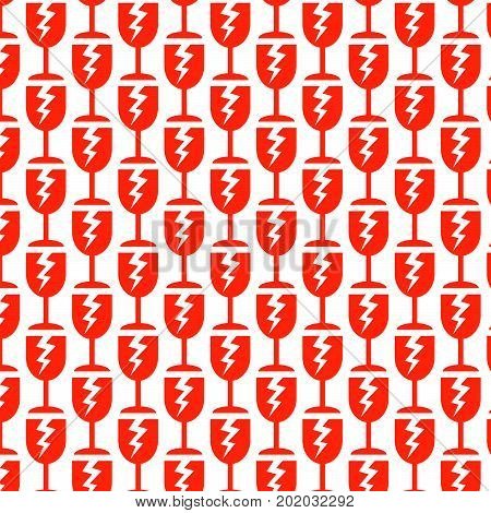 an images of Or pictogram Pattern background fragile icon poster