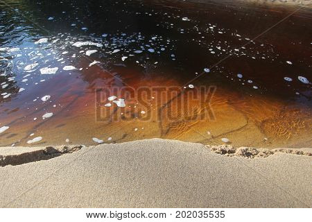 A banks of a river. Pictured Rocks National Lakeshore, Upper Peninsula of Michigan