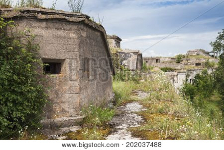Old Abandoned Bunkers System As A Fortification