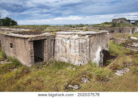 Old Abandoned Concrete Bunker From Ww2