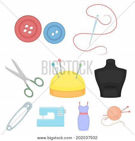 Atelie set icons in cartoon style. Big collection of atelie vector symbol stock
