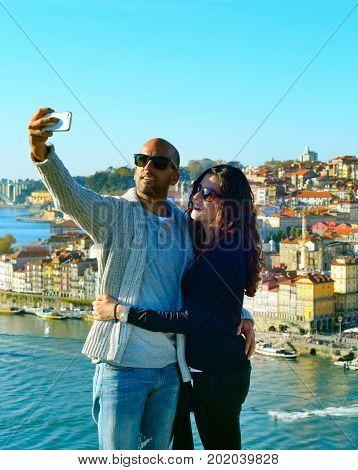 Selfie Photo In Porto, Portugal
