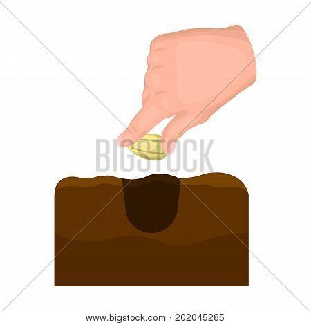Grain, single icon in cartoon style.Grain, vector symbol stock illustration .