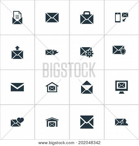Elements Specter, Writing, Pages And Other Synonyms Envelope, Hot And Office.  Vector Illustration Set Of Simple Communication Icons.