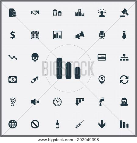 Elements Tribunal, Dress-Code, Atm Point And Other Synonyms Head, Court And Network.  Vector Illustration Set Of Simple Trouble Icons.