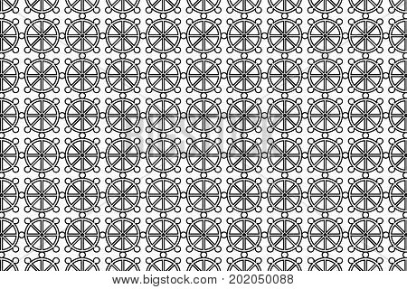 Wheel of Dharma - vector pattern , Dharmachakra - a symbol of Buddhism and Hinduism