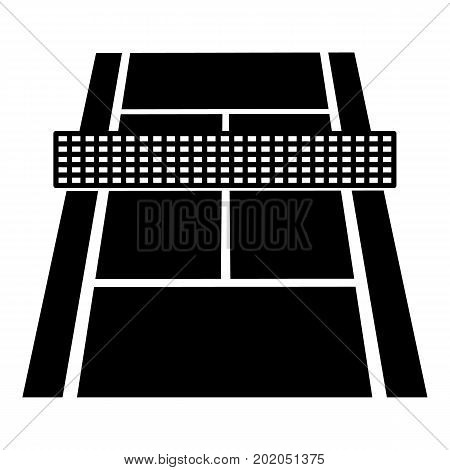 Tennis court icon. Simple illustration of tennis court vector icon for web