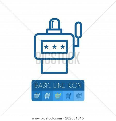 Casino   Vector Element Can Be Used For Casino, Slot, Machine Design Concept.  Isolated Slot Machine Outline.