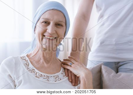 Mentally Strong Smiling Cancer Woman