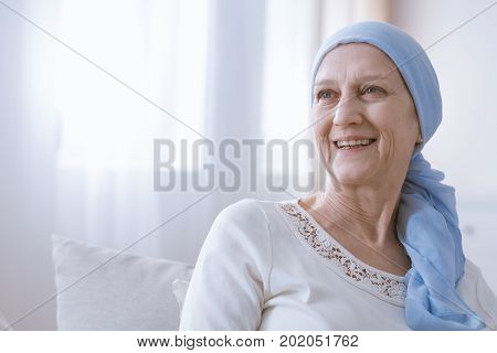 Cancer Woman Smiling With Hope