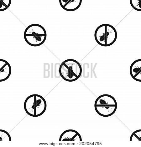 No termite sign pattern repeat seamless in black color for any design. Vector geometric illustration