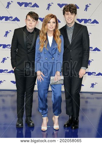 Sydney, Noah and Graham Sierota of Echosmith at the 2017 MTV Video Music Awards held at the Forum in Inglewood, USA on August 27, 2017.