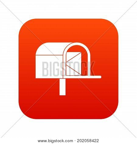 Mailbox icon digital red for any design isolated on white vector illustration