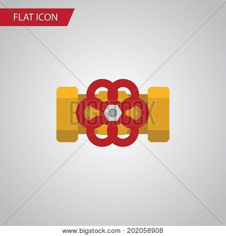 Pump Valve Vector Element Can Be Used For Pump, Valve, Flange Design Concept.  Isolated Flange Flat Icon.